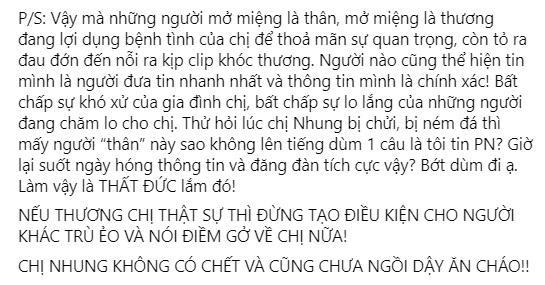 Phi Nhung không chết, cũng chưa ngồi dậy ăn cháo-4