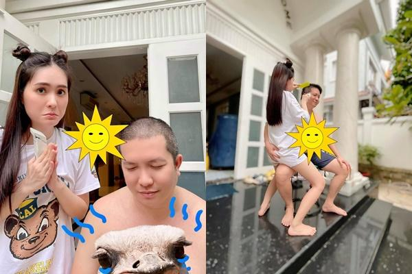 Ông xã Di Băng mặc đồ bà vú, bán dung dịch vệ sinh phụ nữ-10