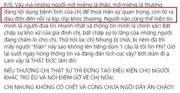 Vợ cũ Bằng Kiều nhắc đến Phi Nhung bất chấp bị dằn mặt-3