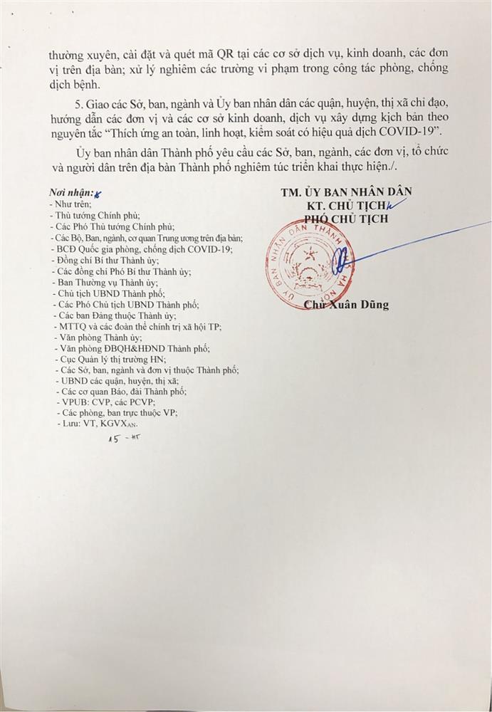 HỎA TỐC: Hà Nội cho phép người dân tập thể dục, mở cửa TTTM-2