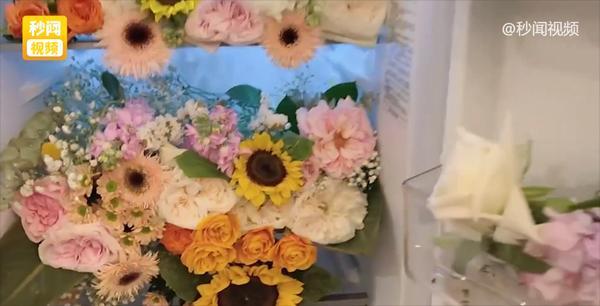 Bạn trai người ta mua hoa tặng người yêu chất đầy tủ lạnh, cắm cả bồn cầu-2