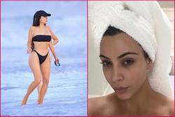 Kim 'siêu vòng 3' diện bikini khoe body phồn thực và mặt mộc quá đỉnh