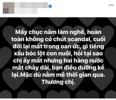 Trang Trần nói về thông tin Phi Nhung chảy nước mắt khi qua đời