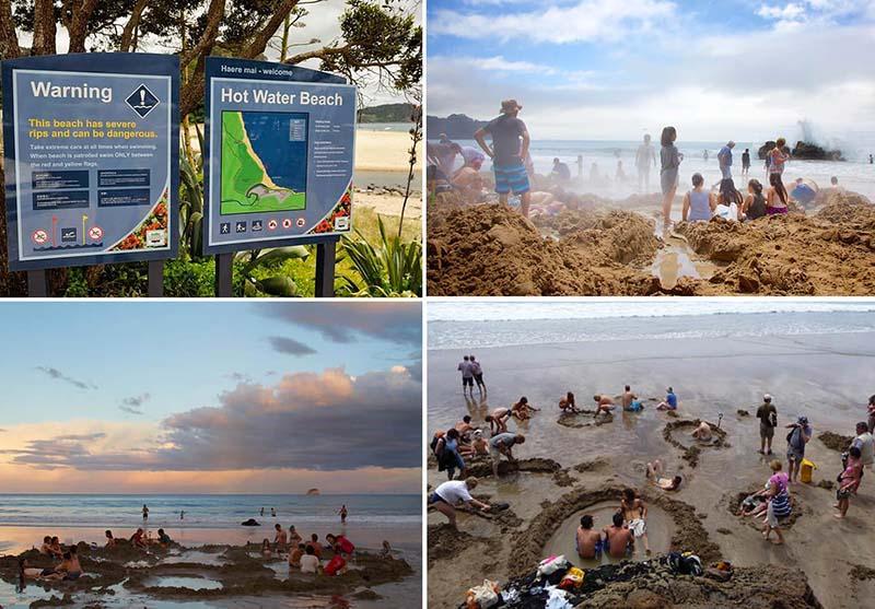 Bãi biển kỳ lạ, du khách đào hố ngâm nước nóng ngay trên bờ-4