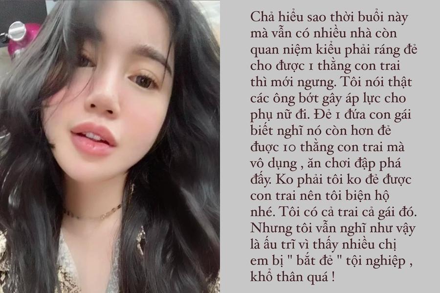 Phản đối đàn ông ép vợ sinh con trai, Elly Trần bị phản ứng-1