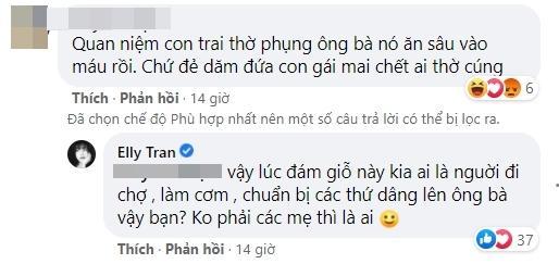 Phản đối đàn ông ép vợ sinh con trai, Elly Trần bị phản ứng-3