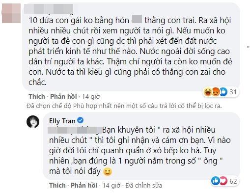 Phản đối đàn ông ép vợ sinh con trai, Elly Trần bị phản ứng-4