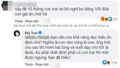Phản đối đàn ông ép vợ sinh con trai, Elly Trần bị phản ứng-5