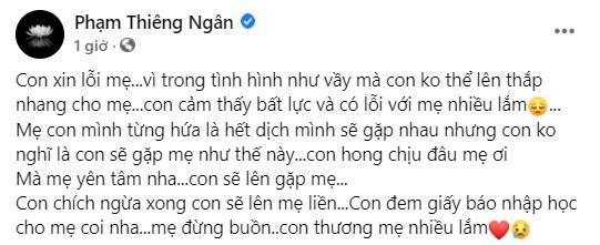 Con nuôi Phi Nhung xin lỗi vì không thể thắp nhang cho mẹ-2