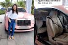 Bà Phương Hằng diện đồ 'xì tin', khoe Rolls-Royce màu hồng 30 tỷ