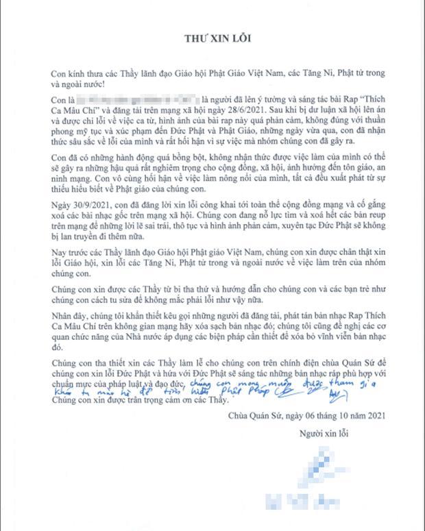 Nhóm rapper xúc phạm Phật giáo đến chùa sám hối, xin hối lỗi-6