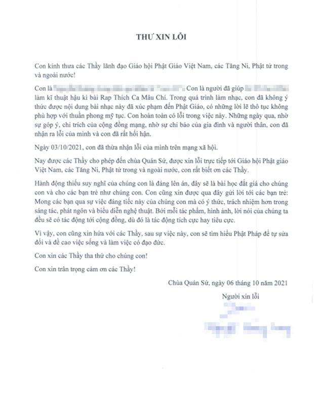 Nhóm rapper xúc phạm Phật giáo đến chùa sám hối, xin hối lỗi-8
