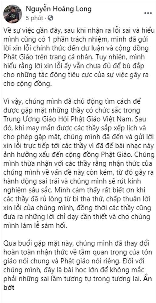 Nhóm rapper xúc phạm Phật giáo đến chùa sám hối, xin hối lỗi-9