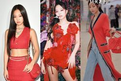 Jennie BLACKPINK chinh phục gam màu đỏ đẹp 'hết nước chấm'