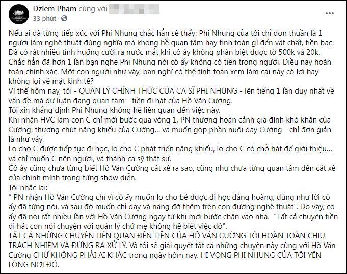 Quản lý Phi Nhung: Trả hết tiền cho Hồ Văn Cường ngay hôm nay-1