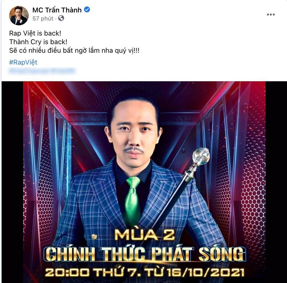 Thành Cry tung ảnh Rap Việt, nhiều người tranh thủ hỏi SAO KÊ-2