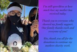 Con gái ruột Phi Nhung nói lời cảm tạ, rất xúc động vì một điều