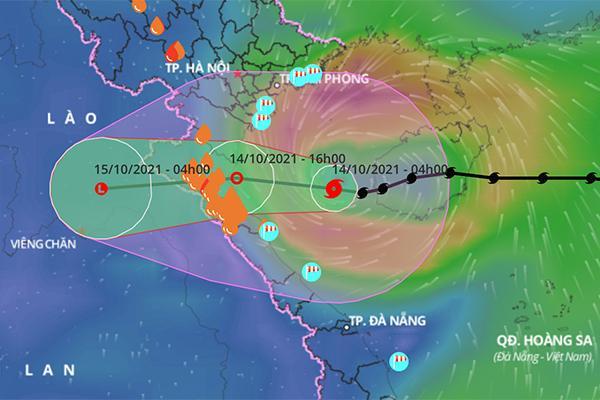 Bão số 8 vào Vịnh Bắc Bộ, hướng thẳng tới Thanh Hóa đến Quảng Bình-1