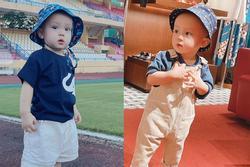 Cận gương mặt siêu cưng của quý tử 1 tuổi nhà Đỗ Duy Mạnh