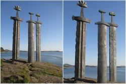 Ý nghĩa 3 thanh kiếm 'khủng' dựng ở ngoại ô Stavanger, Na Uy