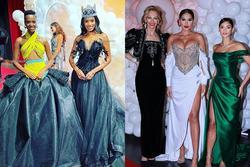 2 Miss World, 4 Miss Universe chạm mặt: Ai đẹp nhất?