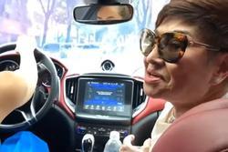 Xôn xao clip Hồ Ngọc Hà lái xe chở vợ Đàm Vĩnh Hưng tại TP.HCM