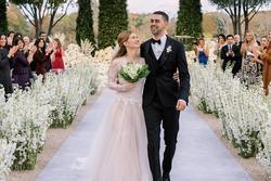 Cận cảnh váy cưới con gái Bill Gates: Đơn giản nhưng sang chảnh