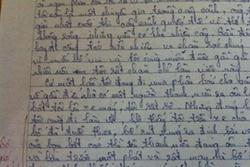 Nhóc tiểu học tả bố, cô giáo đọc xong 'sợ xanh mặt'