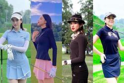 Chơi golf, Hương Giang và loạt mỹ nhân Việt như trình diễn thời trang