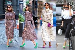Victoria Beckham thích 'tạo nét' bằng giày neon sang chảnh
