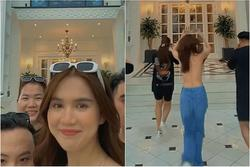 Phát hoảng Ngọc Trinh tung tăng chạy nhảy trong bộ dạng bán nude?