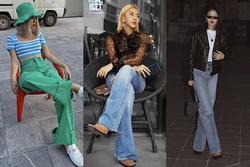 Quỳnh Anh Shyn phối jeans ống rộng không dìm dáng lại trendy
