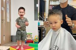 Con trai Hoàng Oanh khác lạ với kiểu tóc mới