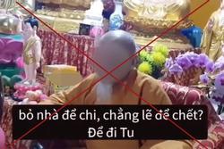 Đoạn clip 'quy y' gây tranh cãi tại 'Tịnh thất Bồng Lai'