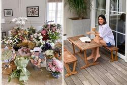 Tăng Thanh Hà khoe quà sinh nhật ngập nhà
