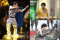 Karik ở 'Rap Việt' chanh sả, tới 'Running Man' bị xé đồ tả tơi