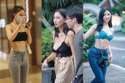 Thanh Bi cùng loạt gái xinh mặc mỗi áo lót ra đường phản cảm