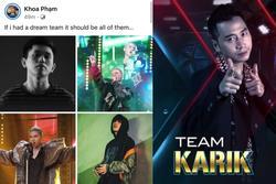 Rap Việt mới 2 tập, Karik đã hé lộ 4 người thuộc đội hình trong mơ ?